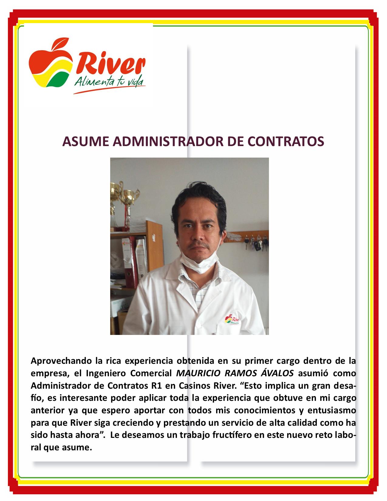 BIENVENIDA AL ADMINISTRADOR DE CONTRATO R1